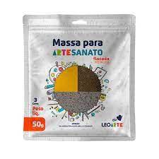 Massa E V A 50g Kit/3 Flocada Metalica - Leoarte