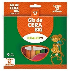 Giz Cera C/12 100mm Big Sortido - Leo E Leo