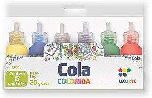 Cola Colorida 20g C/6 Sortida - Leo E Leo