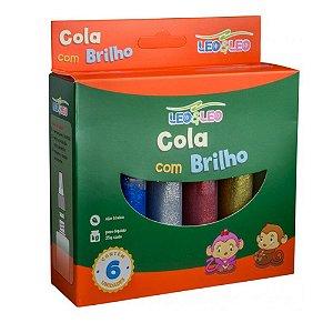 Cola C/glitter 20g C/6 Sortida - Leo E Leo