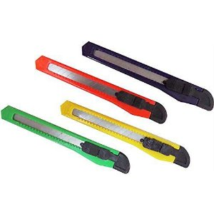Estilete Estreito 9mm Plastico Sortido - Leoarte