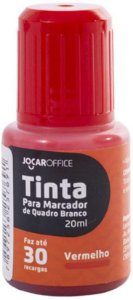 Tinta Marcador Quadro Branco 20ml Vermelho - Jocar