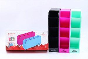 Organizador Mesa Plastico 4 Div Sortido - Winpaper