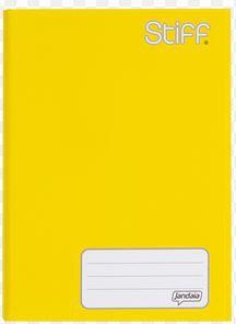 Caderno Broc Cd 1m 96f Stiff Amarelo - Jandaia