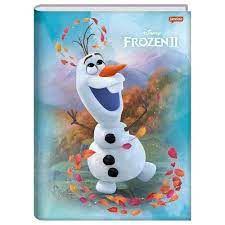 Caderno Broc Cd 1m 96f Frozen - Jandaia