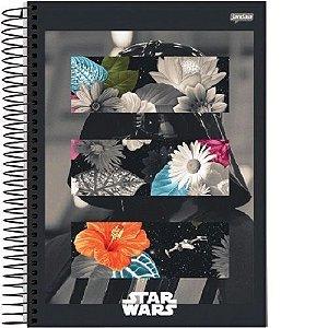 Caderno Esp Univ Cd 1m 96f Star Wars Trend-jandaia
