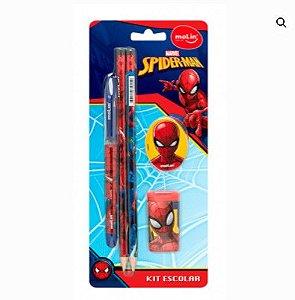 Kit Escolar Blister C/5 Spiderman - Molin