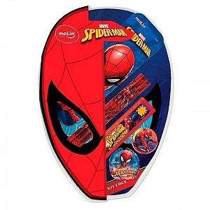 Kit Escolar C/7 Itens Face Spiderman - Molin