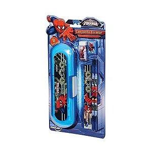 Kit Escolar Blister C/6 Itens Spiderman - Molin