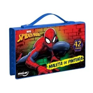Maleta De Pintura C/42 Itens Spiderman - Molin