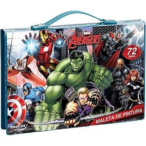 Maleta De Pintura C/72 Itens Avengers - Molin