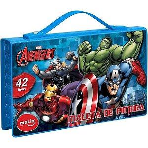 Maleta De Pintura C/42 Itens Avengers - Molin