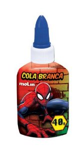 Cola Branca 40g Spiderman - Molin