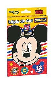 Lapis De Cor Jumbo C/12 Mickey - Molin