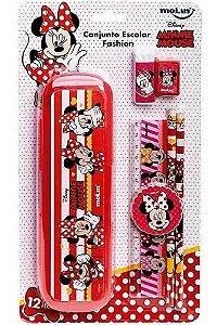 Kit Escolar Blister C/6 Fashion Minnie - Molin
