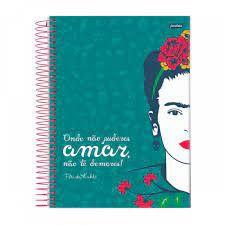 Caderno Esp Univ Cd 10m 160f Frida Kahlo - Jandaia