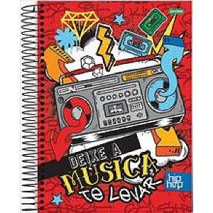Caderno Esp Univ Cd 12m 240f Hip Hop - Jandaia
