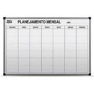 Quadro 90x60cm Planejamento Mensal - Cortiarte
