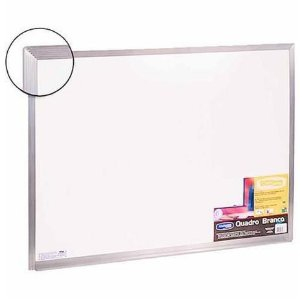 Quadro Branco 100x80cm Aluminio Pop - Cortiarte