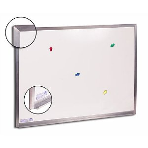 Quadro Branco 80x60cm Magnetico Alum - Cortiarte