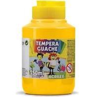 Tempera Guache 250ml Amarelo Ouro - Acrilex