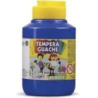 Tempera Guache 250ml Azul Turquesa - Acrilex