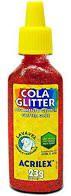 Cola Glitter 23g N/205 Vermelho - Acrilex