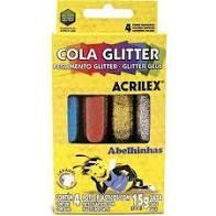Cola 15g C/4 C/glitter Colorida - Acrilex