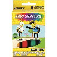 Cola 23g C/4 Colorida - Acrilex