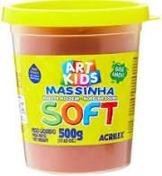 Massa De Modelar Soft 500g N/814 Chocolate-acrilex
