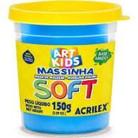 Massa De Modelar Soft 150g N/109 Azul - Acrilex