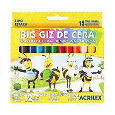 Giz De Cera Big C/12 Cores - Acrilex