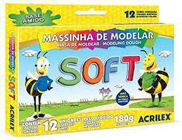Massinha Soft C/12 Cores - Acrilex
