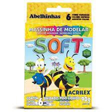 Massinha Soft C/6 Cores - Acrilex
