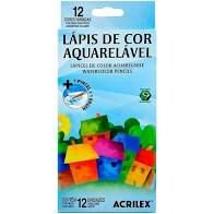 Lapis De Cor C/12 Cores Aquarelavel - Acrilex
