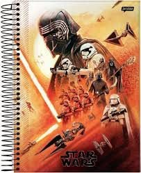Caderno Esp Univ Cd 10m 160f Star Wars F - Jandaia
