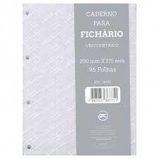 Caderno P/fichario 96f Univ Cinza - Dac