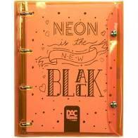 Caderno Fichario Argolado Neon Color Bubble - Dac