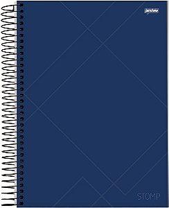 Caderno Esp Univ Cd 10m 200f Stomp Azul - Jandaia