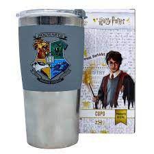 Copo Viagem Max 450ml Hogwarts Casas - Zona