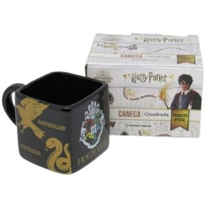 Caneca 300ml Cubo Hogwarts Casas - Zona