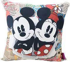 Almofada 40x40cm Fibra Veludo Mickey E Minn - Zona