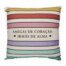 Almofada 40x40cm Fibra Amigas Irmas - Zona