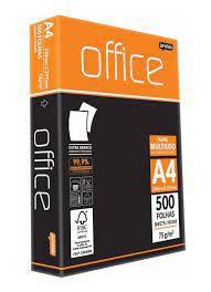 Papel A4 75g C/500f Office Branco - Jandainha