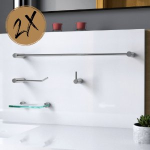 Kit Acessórios Para Banheiro (2 Kits) 8 Peças Slim 528LS2