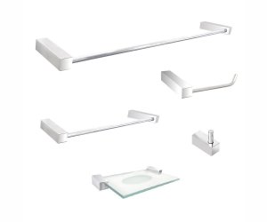 Kit acessórios para banheiro 5 peças de metal 300DC Grego Metal