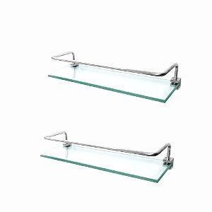 Prateleira em Vidro Proteção (Kit 2 Peças) Prátika 821PK2