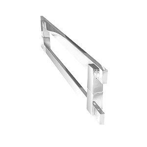 Puxador para porta de vidro e madeira 80 cm auto brilho 200CL Grego Metal