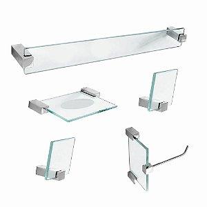 Acessórios para Banheiro em Vidro 5 Peças Classic 602CL