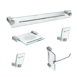 Kit Acessórios para Banheiro Detalhe em Metal Exclusive 5 Peças 702EXA